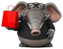 Rolig elefant - illustration 3D stock illustrationer