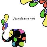 Rolig färgrik elefant Fotografering för Bildbyråer