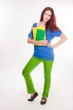 Rolig färgrik ung student. Arkivbild