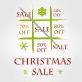 Rolig försäljning för jul Stock Illustrationer