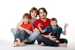 rolig familj Arkivfoto