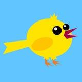 Rolig fet fågel Arkivbilder