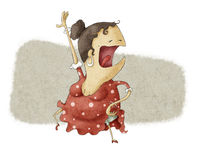 Rolig flamencodans Vektor Illustrationer