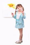 rolig flicka henne little bild Fotografering för Bildbyråer