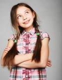 rolig flicka little Royaltyfri Fotografi