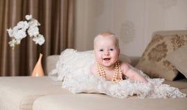 rolig flicka little Royaltyfria Bilder