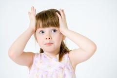 rolig flicka little stående royaltyfria foton