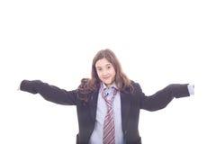 rolig flicka som har Royaltyfri Bild