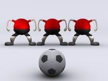 rolig fotboll stock illustrationer