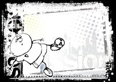 rolig fotboll för 2 bakgrund stock illustrationer