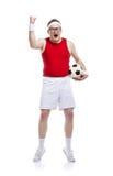 Rolig fotbollsspelare royaltyfri foto
