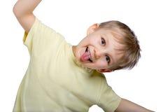 rolig framställning för pojkeframsida Arkivfoton
