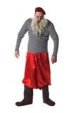 Rolig gamal man med vitskägget Fotografering för Bildbyråer