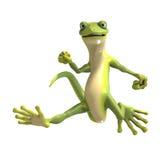 rolig gecko toon royaltyfri illustrationer