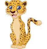 Rolig gepard för tecknad film stock illustrationer