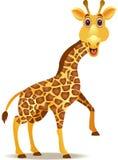 rolig giraff för tecknad film Royaltyfria Bilder