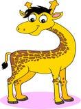 rolig giraff för tecknad film Royaltyfri Bild
