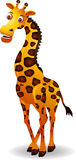 Rolig girafftecknad film Arkivbild