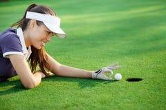 Rolig golf Arkivbild