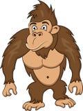 rolig gorilla för tecknad film Royaltyfria Bilder