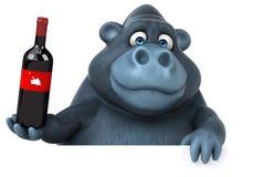 Rolig gorilla - illustration 3D Arkivbild
