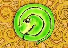 Rolig grön orm Royaltyfri Illustrationer
