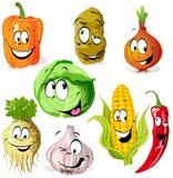 Rolig grönsak royaltyfri illustrationer