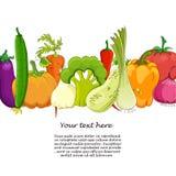 Rolig grönsak- och kryddatecknad film på vit Royaltyfri Foto