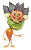 Rolig grabb som göras av grönsaker Royaltyfria Bilder