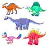 rolig grupp för dinosaurs Arkivfoto