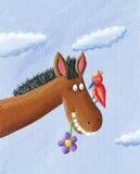 rolig häst Royaltyfri Fotografi