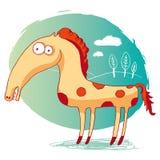 rolig häst Arkivfoto