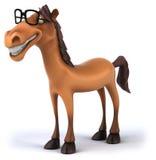 Rolig häst vektor illustrationer