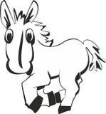 Rolig häst för tecknad film Fotografering för Bildbyråer