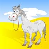Rolig häst stock illustrationer