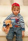 rolig härlig pojke Royaltyfria Bilder