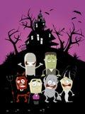 Rolig halloween bakgrund Arkivbild