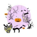 Rolig halloween bakgrund Arkivfoto