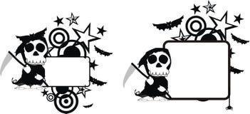 Rolig halloween för dödskördemaskintecknad film kopia space6 royaltyfri illustrationer