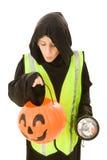 rolig halloween säkerhet arkivfoto