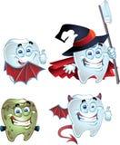 rolig halloween tand Arkivbilder