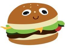 Rolig hamburgare Arkivbilder