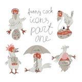 Rolig hane - symboler 1 Arkivbild