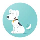 rolig hund vektor illustrationer