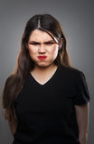 Rolig ilsken kvinna Royaltyfri Foto