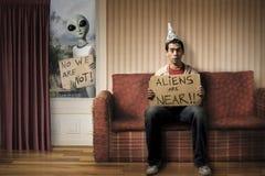 rolig invasion för främmande begrepp Fotografering för Bildbyråer