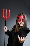 Rolig jäkel i det halloween begreppet Royaltyfri Fotografi
