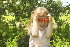 rolig jordgubbe Arkivfoto