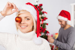 Rolig jul. Fotografering för Bildbyråer
