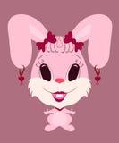 Rolig kaninflicka Arkivfoton